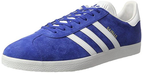 adidas Unisex-Erwachsene Gazelle S76227 Low-Top, Blau (Collegiate Royal/White/Gold Met.), 43 1/3 EU