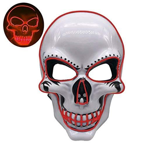 Innerternet LED Purge Maske mit 3 Blitzmodi für Halloween Light Wire Cosplay Maske Purge Mask für Halloween Festival Cosplay Halloween Kostüm (Ninja Kostüm Spinne)