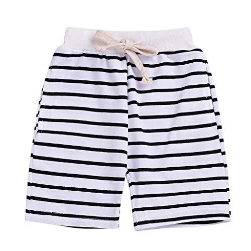 Allence Baby Hosen Kinder Sommer gestreifte Spitze Shorts Strandhose - Gestreifte Spitze