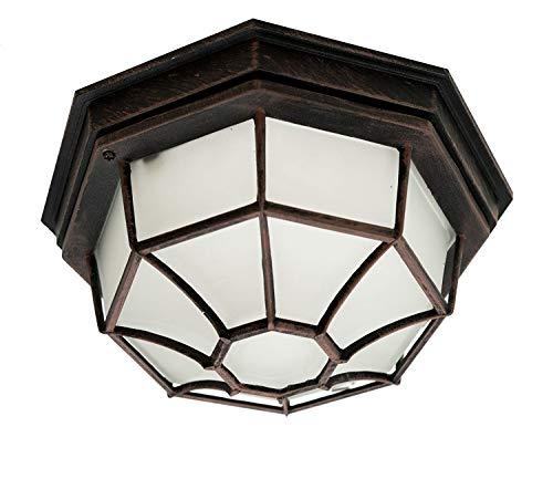 TRANS Globe Lighting 4058212,7cm einflammig Outdoor Groß Flush Mount Rustikal 5-Inch rust -