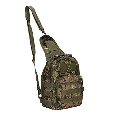 Dorical Taktisch Brusttasche 600D Oxford-Stoff Militarisch Schultertasche Herren Damen Umhängetasche Mini Crossbody Bag Strap Rucksack mit Verstellbar Schultergurt Reise Wandern Camping(E)