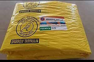 Sparrow Plastic Tarpaulin 120 GSM (Yellow) (18 x 12)
