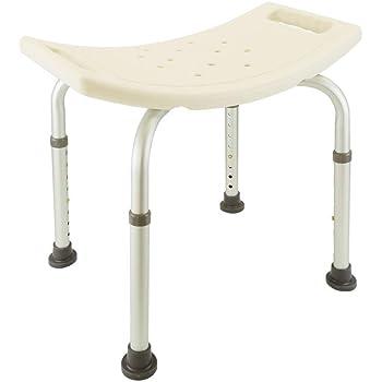 PrimeMatik - Sgabello per vasca ergonomico da doccia altezza regolabile per il bagno