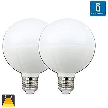 Aigostar - Pack de 2 Bombillas LED G95 tipo globo de 20 watios, casquillo gordo (E27), 1600 lumen y luz calida (3000K)[Clase de eficiencia energética A]