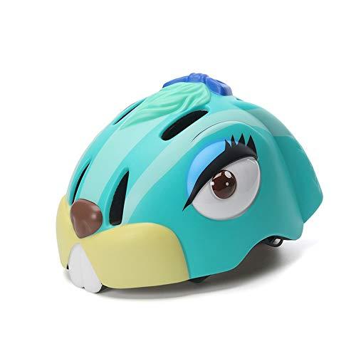 QTWSJ Conejo Azul/Verde/Amarillo Bicicleta Ciclismo Casco,Ultraligero Transpirable, para Niños Pequeños, Protección Seguridad, Artículos Deportivos Seguridad (para Niños de 3 Años o Más)