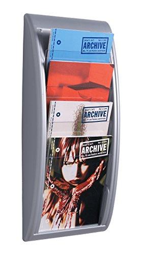 Paperflow Wandhalter, 4 Fächer, DIN A4, alufarben