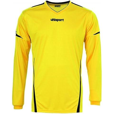 'Uhlsport–Tricot Team a maniche lunghe, Unisex, Trikot Team Langarm, giallo mais / nero, M