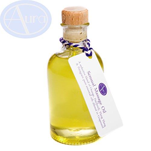 Olio da massaggio sensuale - Oli essenziali di arancia, patchouli, ylang ylang e petitgrain - Botiglia da 100ml