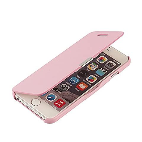 iPhone 6 Hülle, iPhone 6s Hülle, MTRONX Case Cover Schutzhülle Tasche Etui Klapphülle Magnetisch Dünn Leder Folio Flip für Apple iPhone 6 iPhone 6s - Rosa(MG-PK)