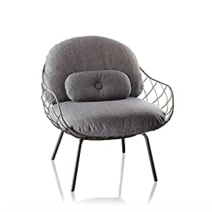 Magis Piña Armchair in painted ash with grey cushions