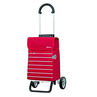 Andersen Shopping trolley Scala Plus with bag Lini red, Volume 34L, aluminium frame