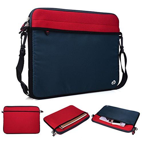 Kroo Tablet/Laptop Hülle Sleeve Case mit Schultergurt für Dell Latitude 12E5250 rot rot