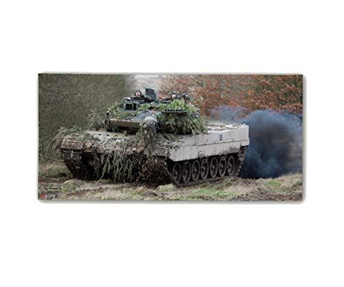 Copytec Poster M&N Pictures Bundeswehr Panzer vorwärts MARSCH Alfashirt ab30x14cm#30280, Poster Größen 2:42x20 cm, Farbe:Mehrfarbig 20 X 42 Satin