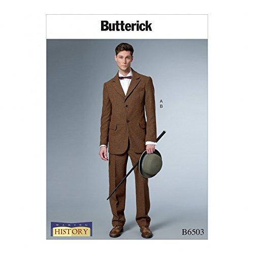 Butterick Herren Schnittmuster 6503Historisches Kostüm Einreihig gefüttert Coat & ()