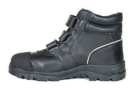 Arbeitsschuhe/ Sicherheitsschuhe/ Arbeitsstiefel aus Leder mit Klettverschluss, Klasse: S3, Größen: 38-47 (45)