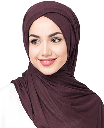 InEssence© New Fig Brown Viscose Jersey Scarf Ladies Wrap Regular Size Hijab