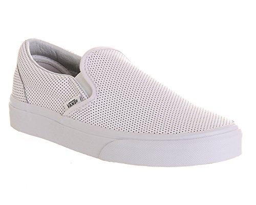 Vans U Classic Slip-on Overwashed, Unisex-Erwachsene Sneakers White Perf Leather