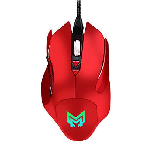 Bescita6 Gaming-Maus Verdrahtet 4800 DPI Programmierbar 7 Farbe Atemlicht 7 Tasten Spiel verdrahtete Maus
