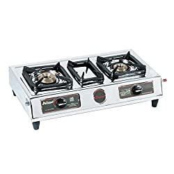 Padmini Double Burner Gas Stove (CS-203)- silver