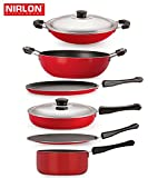 #2: This Contemporary Kitchen Set Offers The Versatility And Quality Discerning Cooks Demand - Flat Dosa Tawa 27.5 cm , Roti Tawa 28.5 cm , Fry Pan With Stainless Steel Lid 2 Lid , Kadai 1.5 Liter , Sauce Pan Medium 1.5 Liter , Appa Chatti 22 cm