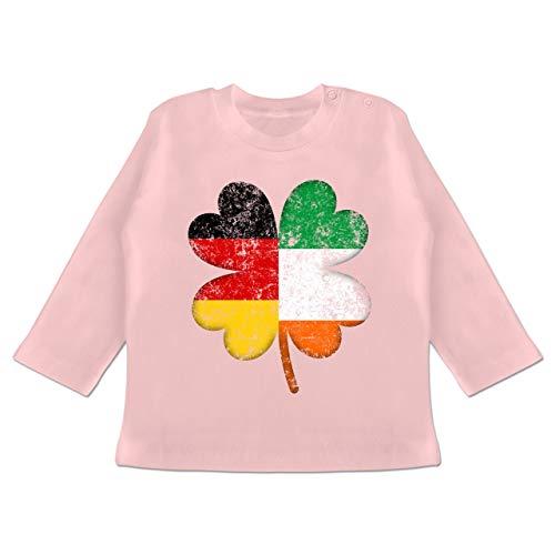Irland Elf Kostüm - Anlässe Baby - Deutschland Irland Kleeblatt - 18-24 Monate - Babyrosa - BZ11 - Baby T-Shirt Langarm