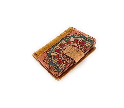 Portafoglio da donna con portafoglio, portafoglio da donna, con cerniera, originale in sughero ecologico portoghese di design/blocco di lettori rfid indesiderati