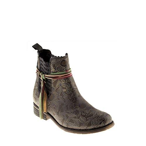 Véritable Amour Cuir A937 Noir Femme Casual avec Tomber Bottes Felmini Beja en Noir Chaussures IxPwRSfqnf