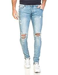 Project X - Jeans bleu clair homme slim déchiré aux genoux