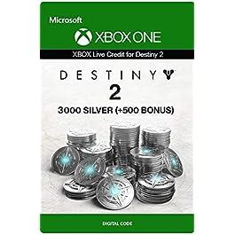 Xbox Live Carta Regalo per Monete d'argento di Destiny 2: 3000 (+500 Bonus) Xbox One/Windows 10 PC – Codice download