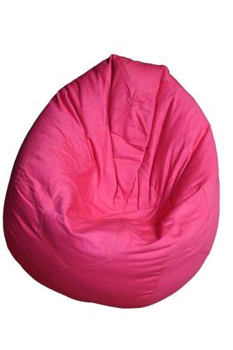 Kinzler S-10008/12 Sitzsack Billy, ca. Ø75 x H95 cm, klassische Tropfenform, Indoor, in vielen verschiedenen Farben, robuster Jeansstoff, pink