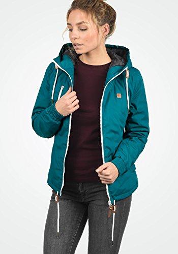 DESIRES Tilda Damen Übergangsjacke Jacke gefüttert mit Kapuze, Größe:XS, Farbe:Dark Petrol (1298) - 4