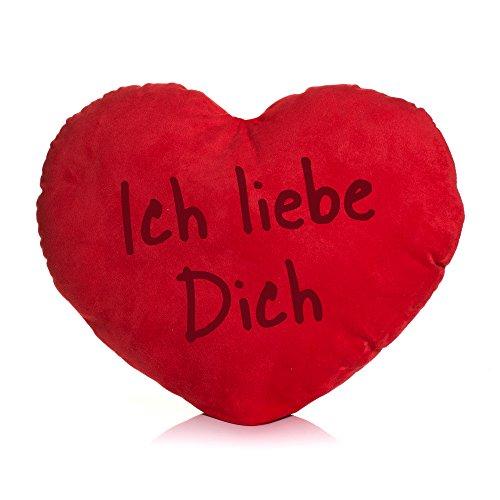 kissen / Plüschkissen Herzform / verschiedene Sprüche auswählbar / Dein Statement / Deko / Kissen / Geburtstag / Valentinstag / Muttertag / Geschenk / Ich liebe Dich (Ich Liebe 30)