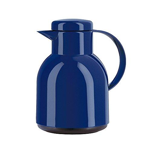 Emsa 661100400 SAMBA Pichet isotherme, fermeture Quick Tip, 1 Litre, 100% hermétique, bleu