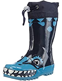 Playshoes Gummistiefel, Regenstiefel Dinosaurier, aus Naturkautschuk, Jungen Halbschaft Gummistiefel