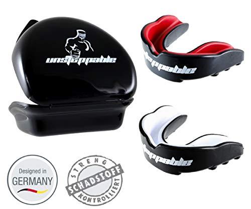 Unstoppable Mundschutz Allrounder Kampfsport Zahnschutz Box + Anleitung Designed in Germany