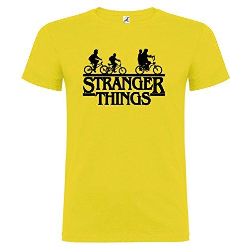 T-shirt manica corta Unisex Stranger Things Bikers By Bikerella Giallo/Nero