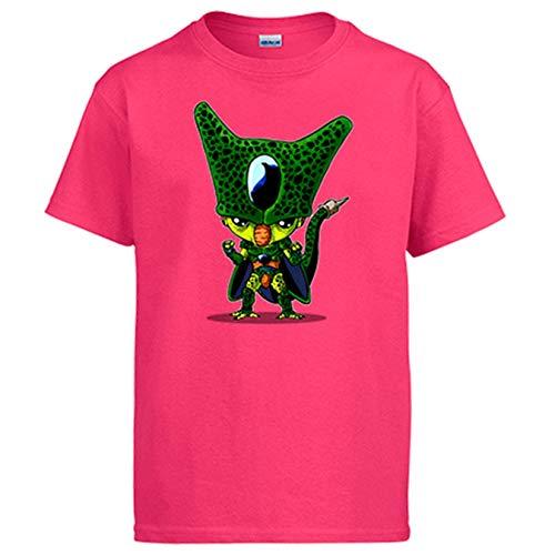 Diver Bebé Camiseta Chibi Kawaii Celula Parodia de Dragon Ball - Rosa, 12-14 años