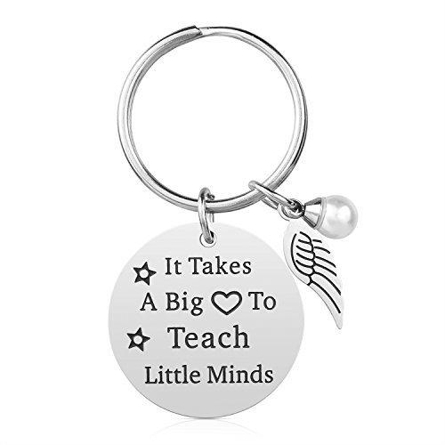 LEHRER Geschenke für Frauen Herren-Best Teacher Ever Lehrer wertsteigerung Geschenke Idee für Weihnachten Geburtstag Edelstahl Lehrer Schmuck mit Geschenk-Box (Teach Little Minds)