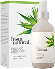 Organic Argan Oil - for Hair, Face, Skin and Body - 100% Pure and Certified Organic Cold Pressed Argan Oil of