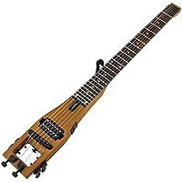 Anygig Guitare électrique de voyage 24 frettes guitare portable Matte Brown avec sac design équilibré Cordes 010~046