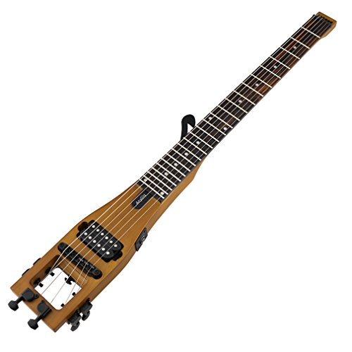 Preisvergleich Produktbild Anygig Portable Traveler Guitar E-Gitarre Gitarre mattbraune 24 Bünde 25.5 inch lang ausgewogene Design