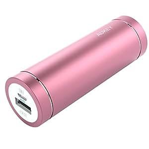 AUKEY Batteria Portatile Mini 5000mAh, con Port 5V 2A, per smartphone e Tablet, Rosa