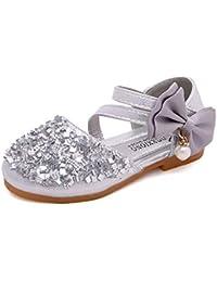 63b8ddea4 Yzibei Fantasía Zapatos para niños Bright Flash Diamond Girls Zapatos  Individuales Zapatos de Princesa Calzado Casual
