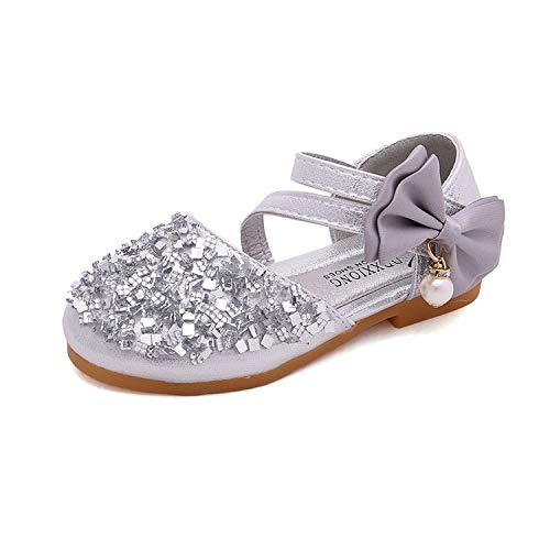 Zxltop Kinderschuhe Bright Flash Diamant Mädchen Einzelne Schuhe Prinzessin Schuhe Student Casual Schuhe Bühne Schuhe Party Hochzeit Schuhe für Mädchen Kleinkind/kleines Kind/großes ()