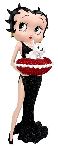 Betty Boop Cushion with heart shape with red glitter (box), 36,5 cm