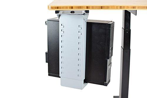 Verstellbare Tischplatte CPU Halter/Unter Schreibtisch PC Tower Ständer/für ergonomisches stehend Schreibtische, Stand Up Schreibtisch Schreibtische, Zubehör (grau)