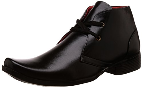 Auserio Men's Black Boots - 7 UK/India (41 EU)(SS 39)  available at amazon for Rs.299
