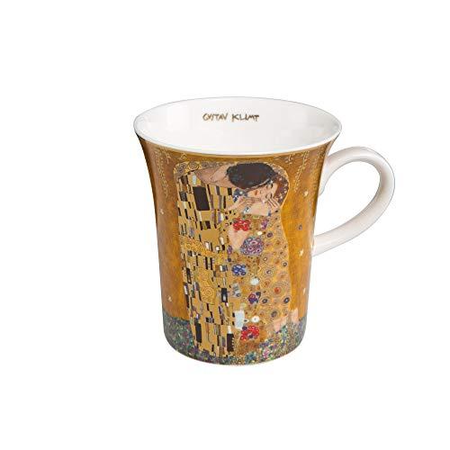 Goebel - Der Kuss - Künstlerbecher - Mug - Bone-China- Porzellan - Goldauflage - Gustav Klimt 0,4 l - Regent-becher