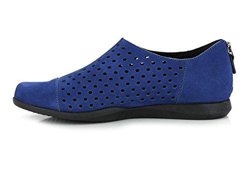 Mephisto da donna Clemence BUCKSOFT Slip On scarpe (c2319) Electric Blue