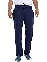 EASY 2 WEAR  Men's Cotton Knitted Track Pant (Sizes S To 4XL) Long Length/Comfort Fit/Plus Sizes - Navy Blue
